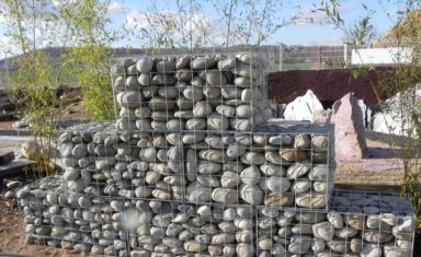 gabion en mailles de 10x10cm galvanis pour mur de. Black Bedroom Furniture Sets. Home Design Ideas