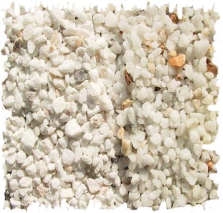 Gravier concass de marbre blanc cristal for Gravier decoratif blanc